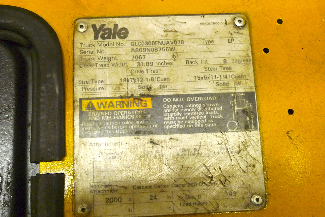 Index Of Archive Sale Items Yale Glc030 Wiring Diagram